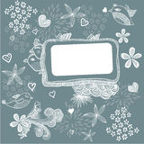Banner with birds and flowers in vector. Retro banner with birds and flowers in vector Royalty Free Stock Images