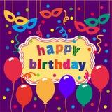 banner birthday happy Στοκ Εικόνα