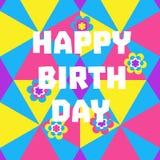banner birthday happy Στοκ εικόνες με δικαίωμα ελεύθερης χρήσης