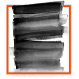 Banner black spots on the wet ink Stock Photos