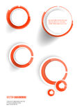 banner blank circles 20.06.2013 Royalty Free Stock Images
