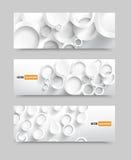 banner blank circles 20.06.2013 Royalty Free Stock Image