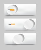 banner blank circles 20.06.2013 royalty free illustration
