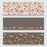 Banner bloemenpatroon Stock Illustratie