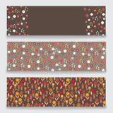 Banner bloemenpatroon Royalty-vrije Illustratie
