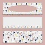 Banner bloemenpatroon Vector Illustratie