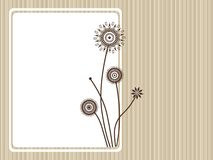 Banner with blossoms Royalty Free Stock Photography