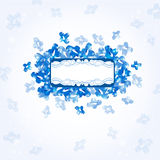 Banner blue background glossy shape Stock Photos
