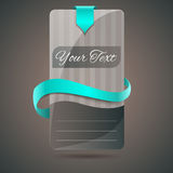 Banner with blue ribbon. Royalty Free Stock Images