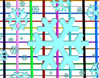 Banner blue snowflake Royalty Free Stock Images