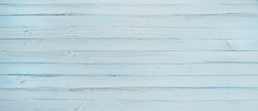 Blue Wood Background Banner. A pale light blue wood banner painted in a rustic and worn way Stock Photos