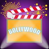 Banner Bollywood, Indian Bollywood. Production of Bollywood films. Flat design, illustration vector illustration