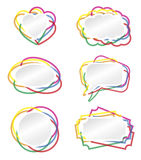 Banner border. Heart, bubble and other banner  illustration with colored border Royalty Free Stock Photo