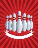 Banner. Bowling Stock Image