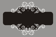 Banner-branches-swirl. Elegant swirl element for you design. Vector (EPS 8 Stock Photos