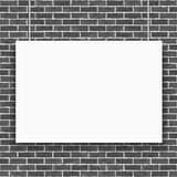 Banner on Brick Wall Stock Photography