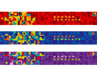 Banner bright color geometry Stock Photo