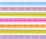 Banner bubble bands in multiple cheerful color Stock Photos