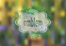 Banner with bunches of grape and background Stock Photos