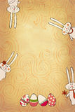 Banner with bunnies stock illustration