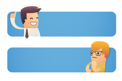 Banner with businessman and customer Royalty Free Stock Images