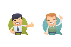 Banner with businessman and customer Royalty Free Stock Image