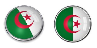 Banner Button Algeria Stock Images