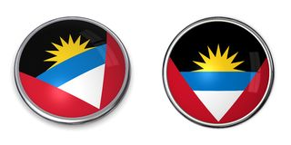Banner Button Antigua And Barbuda Royalty Free Stock Photo