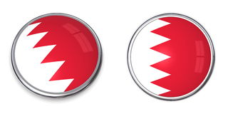 Banner Button Bahrain. Button style banner in 3D of Bahrain royalty free illustration