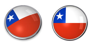 Banner Button Chile Royalty Free Stock Images