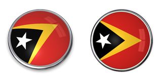 Banner Button East Timor/Timor-Leste Stock Image
