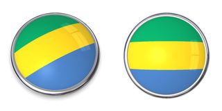 Banner Button Gabon Royalty Free Stock Photos