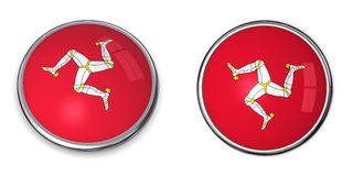 Banner Button Isle Of Man Royalty Free Stock Photo