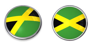 Banner Button Jamaica Royalty Free Stock Images