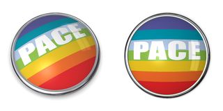 Banner Button Pace/Peace Flag. Button style banner in 3D of pace/peace flag Royalty Free Stock Photo