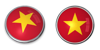 Banner Button Vietnam Royalty Free Stock Photography