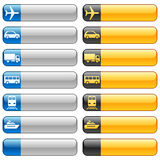 Banner buttons & transport icons vector illustration