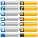 Banner buttons with web icons 5 Royalty Free Stock Image