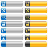 Banner buttons with web icons 7 Stock Photos
