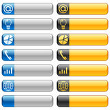 Banner Buttons With Web Icons 6 Royalty Free Stock Photography