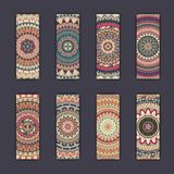 Banner card set with floral colorful decorative mandala elements background. Tribal,ethnic,Indian, Islam, Arabic, ottoman motifs Royalty Free Stock Images