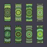 Banner card set with floral colorful decorative mandala elements background. Tribal,ethnic,Indian, Islam, Arabic, ottoman motifs Stock Image