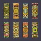 Banner card set with floral colorful decorative mandala elements background. Tribal,ethnic,Indian, Islam, Arabic, ottoman motifs Stock Images