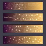 Banner card set with floral glowing decorative mandala elements background. Tribal,ethnic,Indian, Islam, Arabic, ottoman motifs.  Royalty Free Stock Images