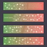 Banner card set with floral glowing decorative mandala elements background. Tribal,ethnic,Indian, Islam, Arabic, ottoman motifs.  Stock Images