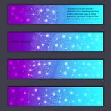 Banner card set with floral glowing decorative mandala elements background. Tribal,ethnic,Indian, Islam, Arabic, ottoman motifs.  Royalty Free Stock Photography