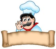 Banner with cartoon chef Stock Images