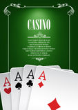 Banner with Casino Logo Badges. Royalty Free Stock Image