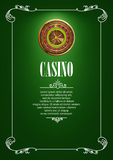 Banner with Casino Logo Badges. Stock Photo