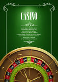 Banner with Casino Logo Badges. Stock Photography